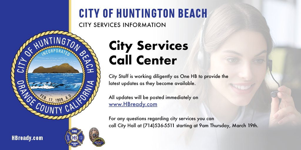 City of HB Web and Call Center